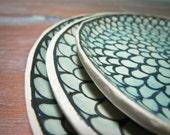 jade zinnia plates