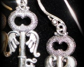 Flying Key Earrings
