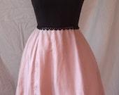 Vintage 50's Pink and Black Cocktail Dress