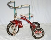 Vintage Red Midcentury Troxel Tricycle, red children's bicycle,  Vintage Tricycle, Murray troxel tricycle