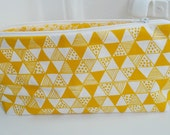 Yellow Triangle Mania Pouch