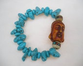 Bracelet:  Little Buddha and Turquoise
