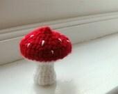 Red toadstool mushroom - crocheted