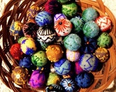Jewelry felted beads(10 pieces)For Acessories,Jewelry,Toys...Cristmas Decorations