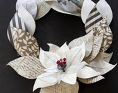 Poinsettia Wreath Handmade-Large