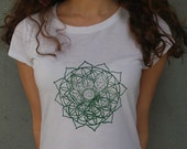 Ladies Large Heart Chakra Tee - Bamboo & Organic Cotton Blend - Screen printed - TheLotusRoot