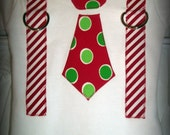 Black Friday FREE SHIPPING and Buy 4 Get 1 Free - Boys Christmas Shirt or Onesie Tie with Suspenders Matches Girls Elf Shirt