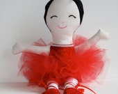 Red Ballerina Doll Dance Ballet 17 Inch Valentine Day Gift