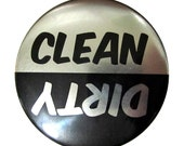 Clean/Dirty Dishwasher Magnet (Metallic Black/Silver) - LovelyPanda