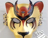 Egyptian Warrior Goddess, Sekhmet Lioness Leather Mask