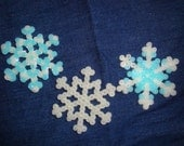 Snowflake magnets glow in the dark set of three