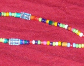 "20"" Multicolored Heart Accent Beaded ID Lanyard - FREE SHIPPING"