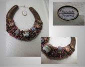 Beaded Horseshoe Art-(Chocolate Dreams)