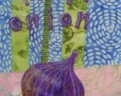 Purple Onion - 8.5 x 11 Archival Print
