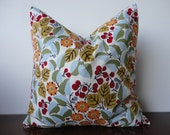 "Pillow Cover-SINGLE 18"" x 18"" White Multi Floral"
