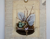 Shabby Natural Assemblage Art