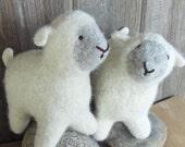 Waldorf Toy Sheep, Lamb - Natural Stuffed Animal - Custom Knit - Eco Friendly / Woolies