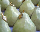 .Set of 6 Pear Ornament Wine Tag Napkin Ring
