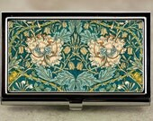 William Morris Honeysuckle Floral Business Card Case
