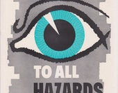 Vintage Workplace Safety Poster 1960s National Safety Council - Be Alert To All Hazards