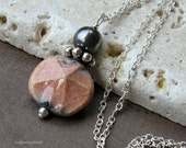 Pink Sand Dollar and Sterling Silver Necklace - Nantucket