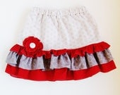 CUSTOM Valentine's Day Skirt size 4 - KRISTA H.