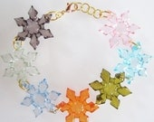 Bracelet, Multicolor Holiday Snowflake Bracelet