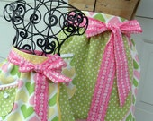 Hearts and Polka Dots Mother Daughter Matching Aprons