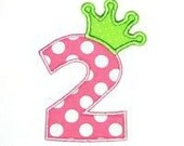 Number with Princess crown SS tshirt or onesie