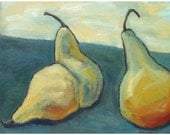 Contemporary abstract still life, Original painting on canvas, includes Certificate of Authenticity, 18 x 24, titled Pear Gathering