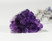 Amethyst Druzy Cluster Raw Cabochon, Quartz Crystals, Icy Purple, Wire Wrapping or Bezel Setting Inv. 302 - GlimmeringGems