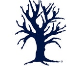 Blue silhouette - Dancing Tree of Life - 8 x 11 giclee art print - Tarawinona