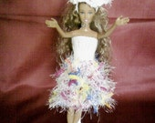 New handmade ROYAL WEDDING inspired  design dress and hat- barbie doll clothes    (nannycheryl original)    754  x  53