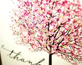 Thank You Cards Bright Pink and Colourful Cherry Blossom