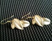 Layer Leaf Gold Earrings