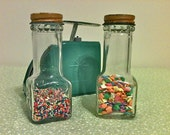 Vintage 1950's Pair of Sprinkles Jars