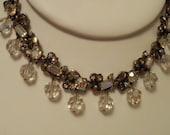 "Vintage necklace,""Hollycraft 1957"" necklace, signed necklace, 1950s necklace, vintage jewelry"