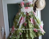 Jane's Green Tea Party Dress...sizes 6 months through size 6