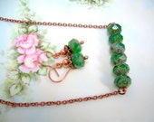 Irish Call - Copper & Picasso Bead Necklace Set