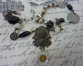MOTHER of PEARL BOOK Baltimore 1932  vintage  assemblage necklace