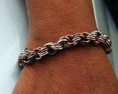 Mens Bracelets Silver Copper Chain Mail Chain Maille Chainmail - UrbanJule