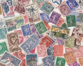 Lot of Vintage French Postage Stamps for Altered Arts Collage Destash - PaperAeroplanes