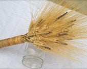 Dried Golden Wheat and Lavender Bouquet.  All natural. - FamilyDriedFlowers