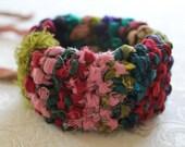 Sari Ribbon Hand Knit Cuff Bracelet - BoutiqueLisette
