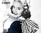 Vintage 1940s Hat & Drawstring Purse PDF Sewing Patterns