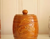 Vintage Barrel of Cookies Cookie Jar Made in USA