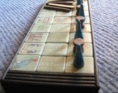 Unique handcrafted Ancient Egyptian Senet Game board in cotton bag