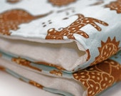 Baby Boy Burp Cloth Set of 2 Blue and Brown Animal Print Baby Boy Burp Cloth Great for a Baby Boy EtsyKids Team