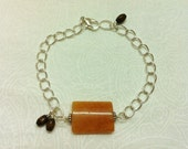 Red Aventurine Focal Bead Bracelet