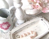 Romantic Cottage Decor Collection Shabby CHic White Candlesticks Sconces and Decor